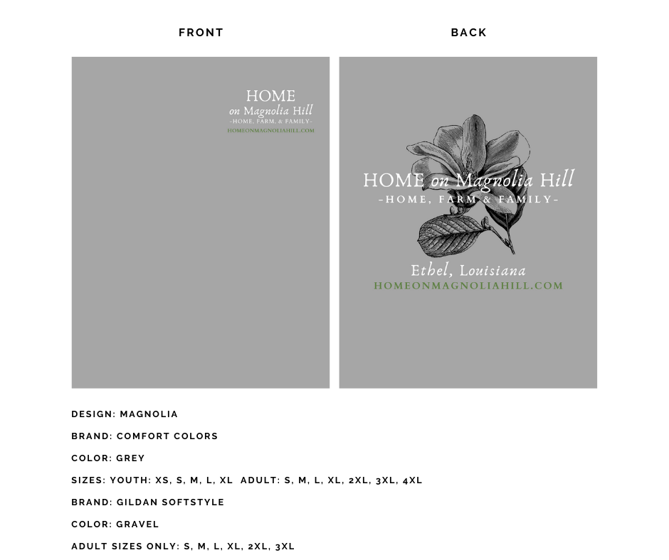 home on magnolia hill t-shirt collection, home, farm, family, diy