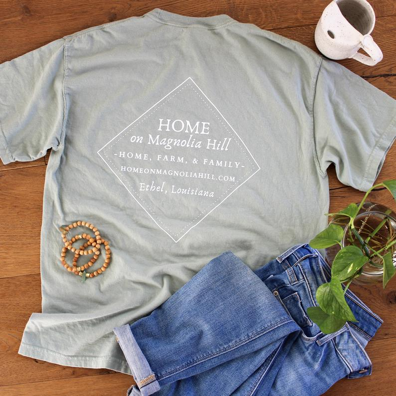 home on magnolia hill bay colored t-shirt